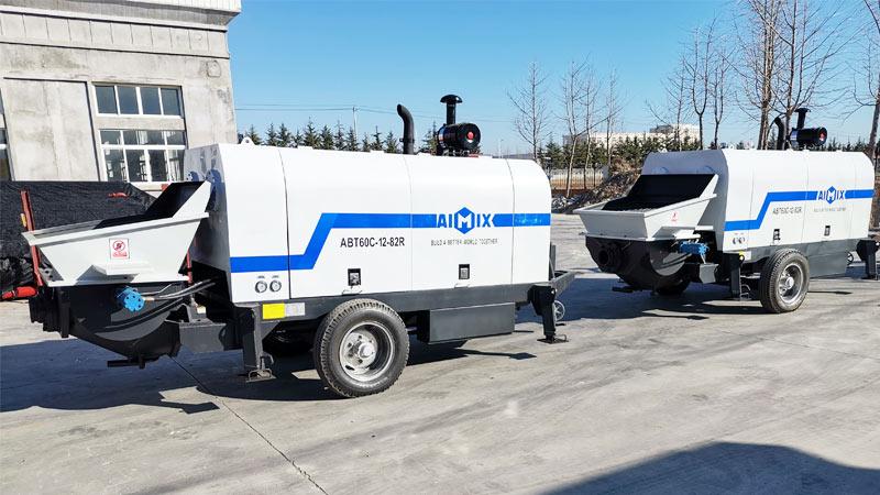 Aimix Дизельные Стационарные бетононасосы ABT-60C на заводе