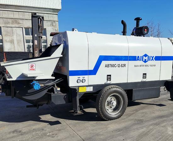 Aimix Дизельный Стационарный бетононасос 60 отгрузил во Узбекистан